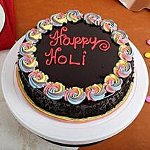 Happy Holi Chocolate Cake: Cake Delivery in Kuttipuram