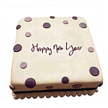 Happy New Year Fondant Cake: New Year Gifts for Friend