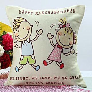 Happy Rakhi Cushion: Lucky Bamboo to Pune