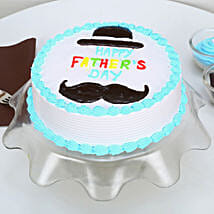 Hat And Moustache Fathers Day Cake: Red Velvet Cakes Ahmedabad