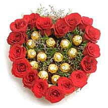 Heart Shape Love: Flowers N Chocolates - birthday