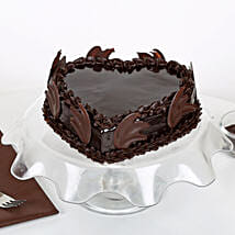 Heart Shape Truffle Cake: Send Heart Shaped Cakes to Gurgaon