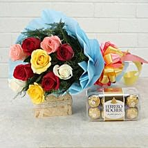 Heartfelt Wishes: Flowers with Chocolates