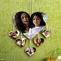 Heartshaped Personalized Wall Hanging: Send Personalised Gifts to Ulhasnagar