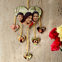 Heartshaped Personalized Wall Hanging: Send Personalised Gifts to Nalgonda