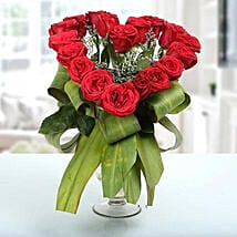 Heartshaped Vase Arrangement: Send Flowers to Haldwani