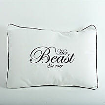 Her Beast Personalized Cushion: Gift Delivery in Champawat
