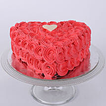 Hot Red Valentine Heart Cake: Send Designer Cakes to Bhopal