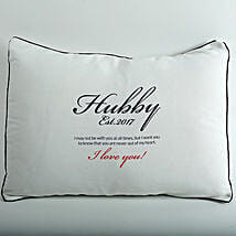 Hubby Love Personalized Cushion: Gift Delivery in Ambedkar Nagar