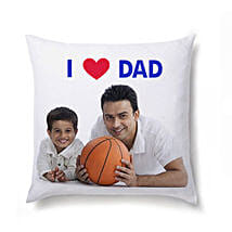 I Love Dad Personalized Cushion: Cushions