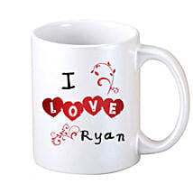 I Love Personalized Coffee Mug: Personalised Mugs for Her