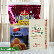 Imperial Rakhi Hamper: Send Rakhi With Sweets to Jaipur