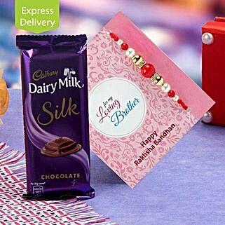Joyful Pack Of Chocolate And Rakhi: Rakhi With Chocolates Bestsellers