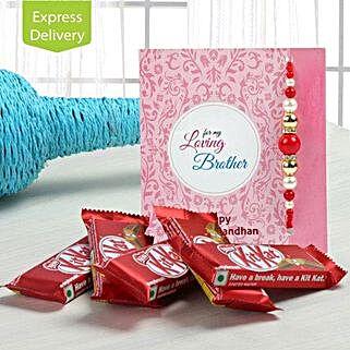 Kit Kat Choco And Rakhi: Rakhi with Chocolates