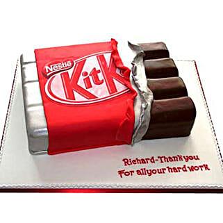 Kit Kat Shaped Cake: Designer Cakes Faridabad