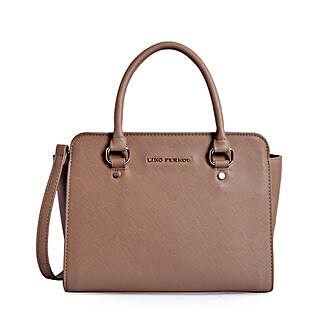 Lino Perros Durable Handbag- Beige: Buy Handbags