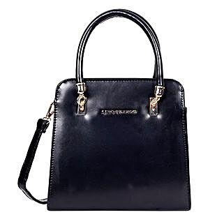 Lino Perros Satchel Handbag Black: Handbag Gifts
