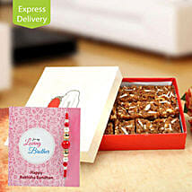 Loaded with sweet wishes: Rakhi with Sweets