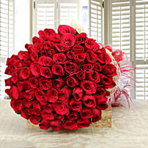 Enchanting Love- Classy 75 Red Roses Bunch: Valentines Day Roses