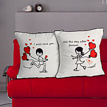 Love Couple Cushion: Valentines Day Gifts to Dhanbad