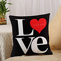 Love Cushion Black: Personalised Gifts Satara