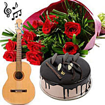 Love Express it with a Song: Romantic Flowers for Husband