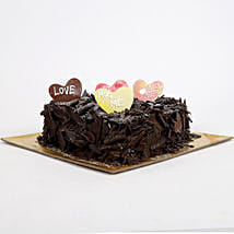 Love in abundunce Valentine cake: Send Heart Shaped Cakes
