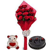 Love Treat for you: Flowers & Teddy Bears Pune