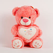 Love You Teddy Bear Peach: Soft Toys Gifts