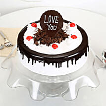 Love You Valentine Black Forest Cake: Romantic Cakes