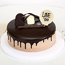 Love You Valentine Chocolate Cake: Cakes to Moradabad
