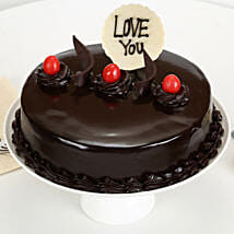 Love You Valentine Truffle Cake: Birthday Cakes Aligarh