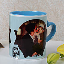 Lovely Personalized Blue Mug: Personalised Mugs for Fathers Day