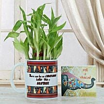 Lucky Bamboo N Mug: Send Bhai Dooj Gifts to Srinagar