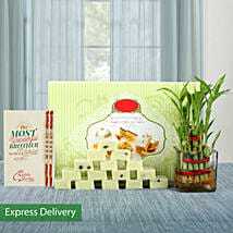 Lucky Bamboo Rakhi Love: Rakhi with Sweets