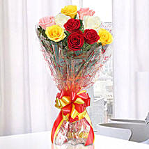 Magical Multicolored Roses Bouquet: Roses for Birthday