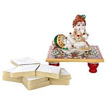 Marble Bal Krishna Combo: Send Handicraft Gifts to Delhi