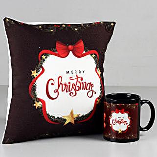 Merry Christmas Mug & Cushion Combo: Christmas Gifts