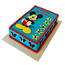 Mickey Mouse Designer Fondant Cake: Gifts for 1St Birthday