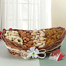 Mixed Basket Of Dry Fruits: Send Bhai Dooj Gifts to Srinagar