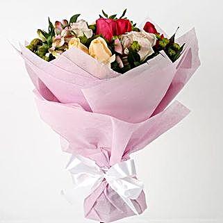 Mixed Roses Alstroemerias Premium Bouquet: New Arrival Flowers