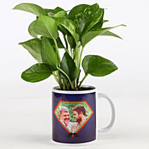 Money Plant In Personalised Mug For Dad: