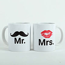 Mooch N Lips Couple Mugs: Send Gifts to Itanagar
