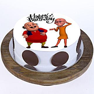 Motu Patlu Cake: Red Velvet Cakes Lucknow