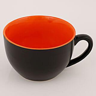 Mug Shaped Ceramic Vase Black: Pots for Plants