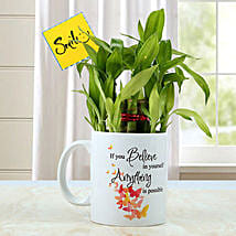 Mug with Bamboo Plant: Desktop Plants