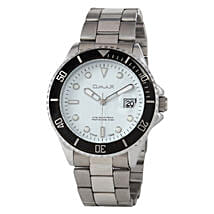 Omax Cool Dial Mens Watch White: Watches for Him