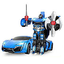 One Button Transforming Car Blue: Cars for Kids