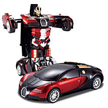 One Button Transforming Car Red: Toys and Games