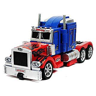 Optimus One Button Transforming Car: Kids Toys & Games